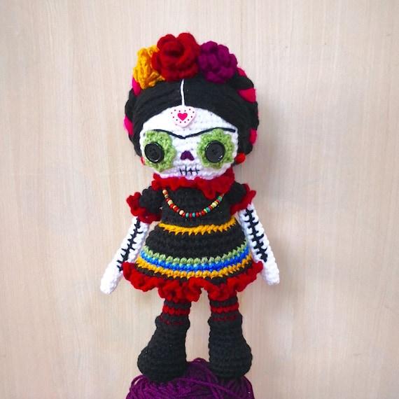 Frida Kahlo Crochet Doll Pattern Amigurumi Voodoo Dia De Los Etsy