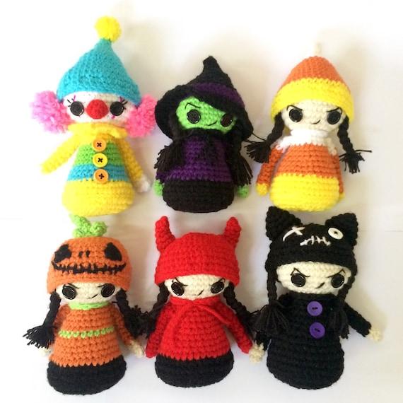 Crochet Pattern Halloween Dolls Christmas Dolls Free Etsy