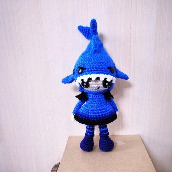 2 In 1 Crochet Pattern Dinosaur Shark Creepy Cute Amigurumi Etsy