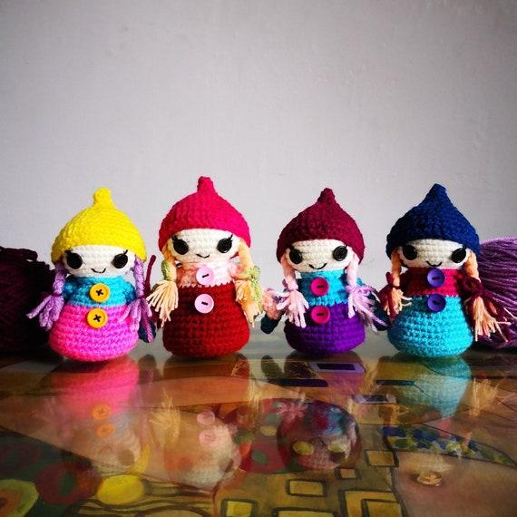 CROCHET PATTERN Whimsical Gnomes, Garden Gnomes, Amigurumi doll ...