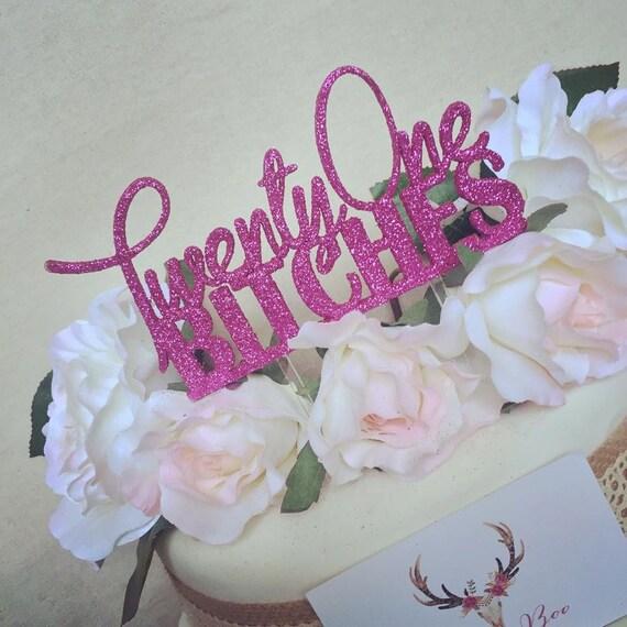 Twenty One Cake Topper First Birthday 21st
