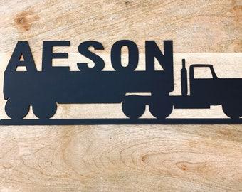 Personalised Truck Door Hanging / Wall Hanging Nursery Decor Wall Decor Boys Decor