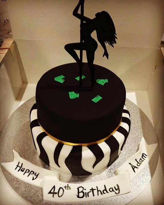 Peachy Pole Dancer Birthday Cake Topper Birthday Stripper Cake Topper Etsy Funny Birthday Cards Online Elaedamsfinfo