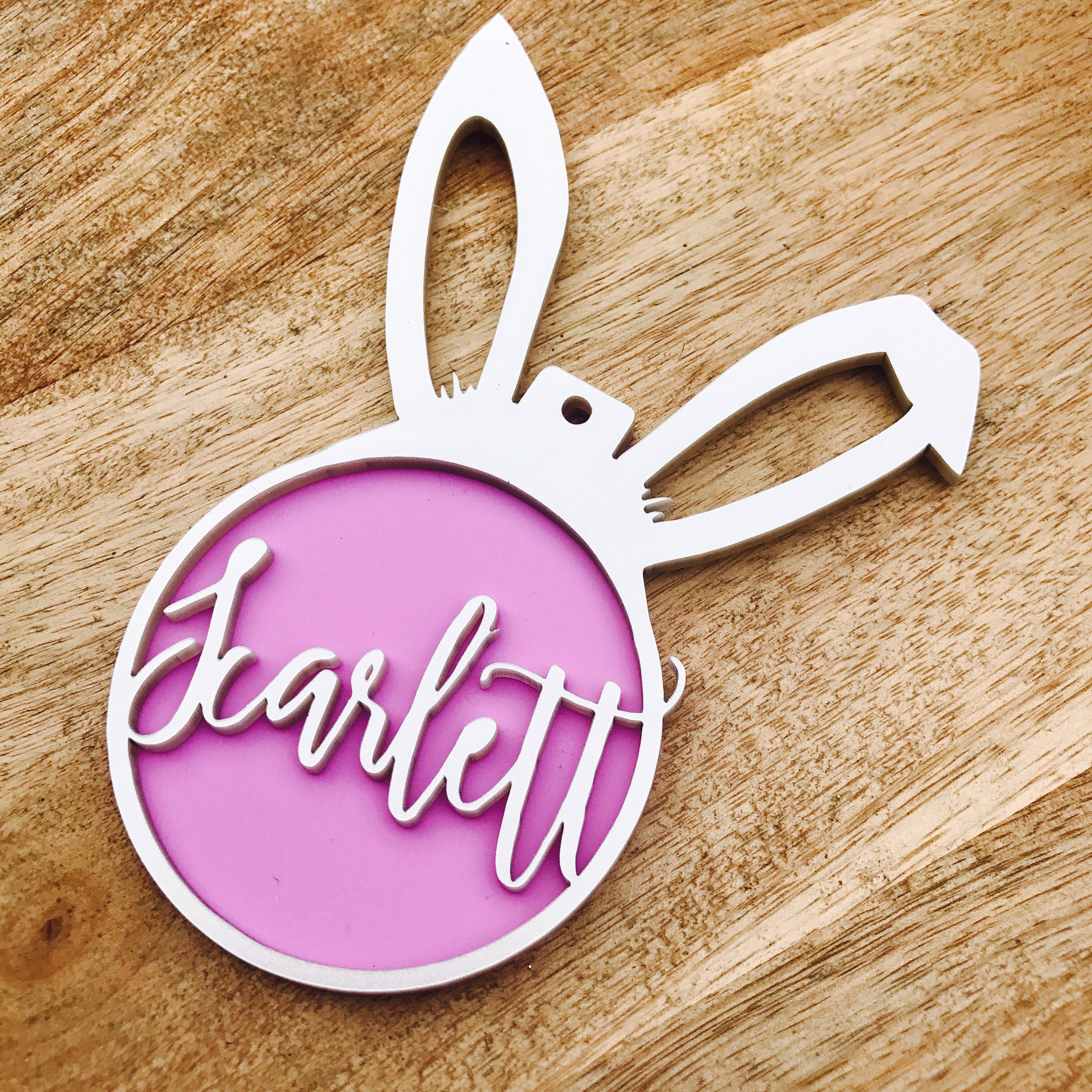 Personalised easter bunny ornament easter bauble personalized easter personalised easter bunny ornament easter bauble personalized easter gift easter bunny hanging bauble negle Gallery