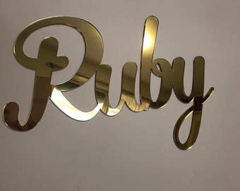 40cm wide Wall Name Sign Hanging Plaque Mirror Name Plaque Bedroom Decor Nursery Decor Batman Personalised Gift Mirror Names Large