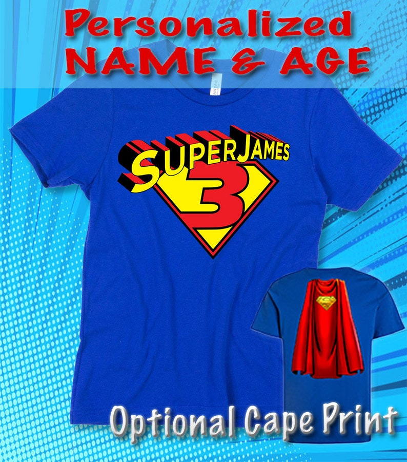 3cfe3a72f Personalized Birthday Name and Age Superhero Superman Cape | Etsy