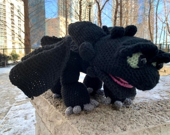 Crochet How to Train Your Dragon Toothless | Crochet toothless ... | 270x340