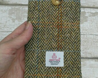 f00a13d520db Harris tweed glasses case wool tweed sunglasses pouch eyeglass cosy  Scottish tweed Herringbone design fully lined and in stock