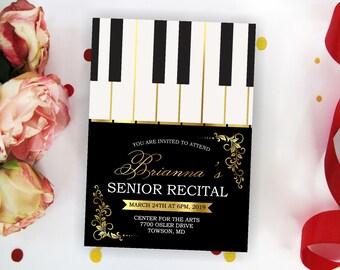 Piano Music Performance Church Concert Invitation EDITABLE Piano Recital InvitationFlyer Digital Invite School Event INSTANT DOWNLOAD