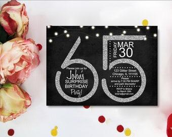 65th birthday invitations etsy