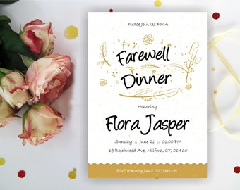 Farewell Dinner Invitation. Farewell Party Invitation, Goodbye Lunch  Invitation, Leaving Party Invitation, Printable Digital