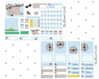 Just Hangin Around Mini Sticker Kit - sloth sticker kit - sloth tn sticker kit - Planner Kit - planner stickers - cute sloth stickers
