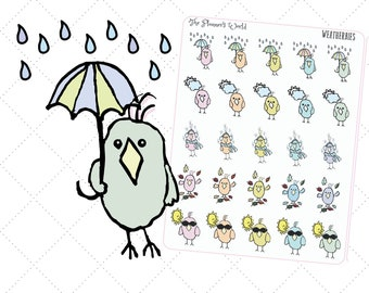 Weatherbies Weather Planner Stickers - Featherbies