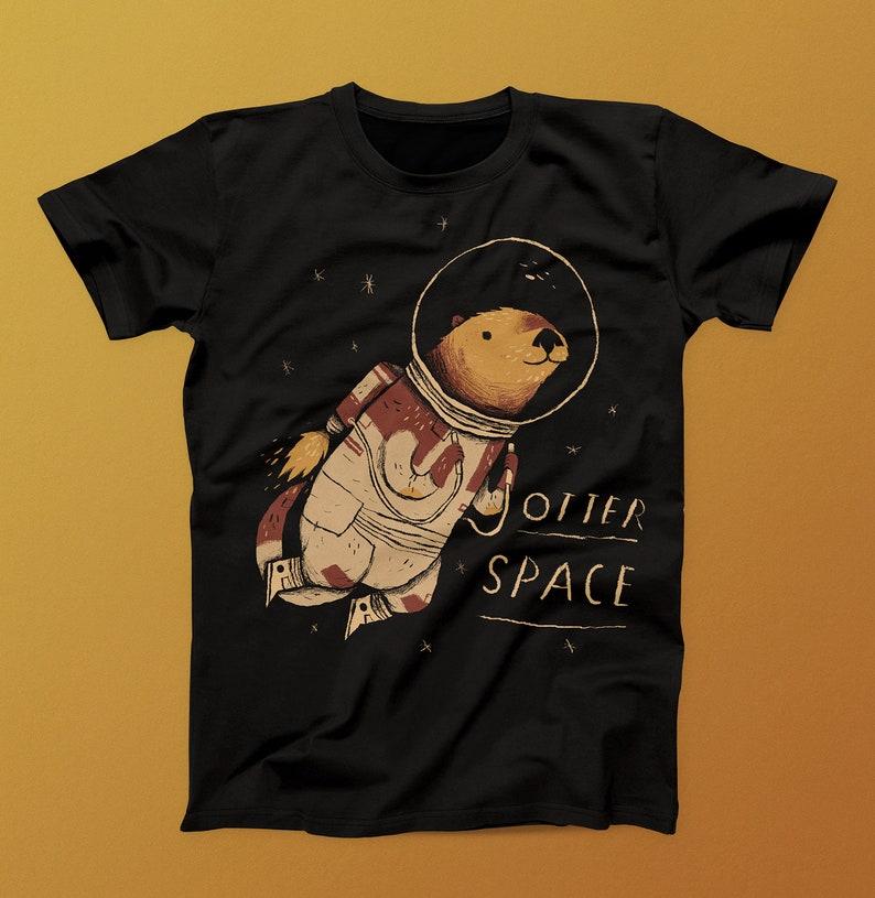 16c5f9347e Otter Space space otter T-shirt / otter shirt Otter T-shirt | Etsy