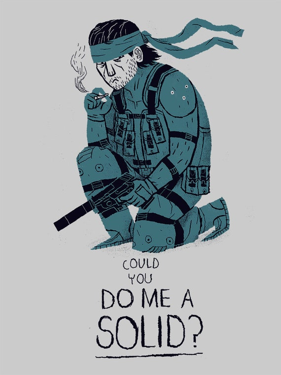 Could You Do Me A Solid Metal Gear Solid T Shirt Solid Snake Shirt Metal Gear Funny Tee Do Me A Solid