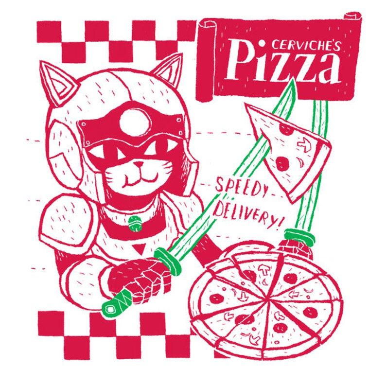 59923ddafbf Cerviche s Pizza samurai pizza cats T-shirt   speedy