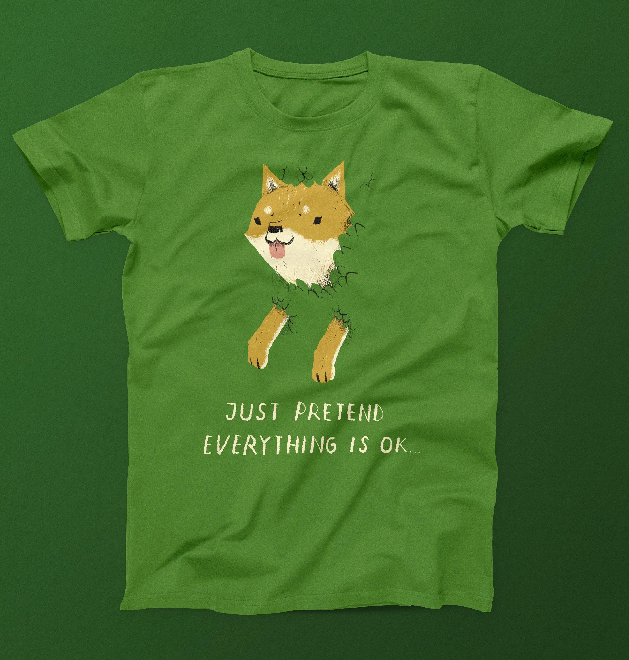 Etwas Neues genug Bush Shiba T-shirt. / shiba T-shirt / shiba-inu T-shirt / | Etsy #GP_17