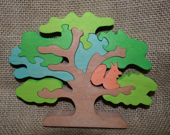 Tree. Wooden tree..  Wooden Puzzles. Wood Puzzle Animal. Puzzle Zoo. Animal Kids Puzzle. Wooden Toy. Wood Toy Baby Puzzle. Baby Gift.