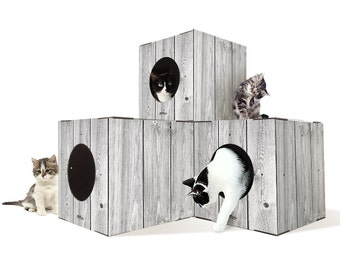 Make Your Own Cardboard Indoor Cat Tree Furniture With Steps, Diy Cat Tree  Furniture With Boxes, Cat Tree Furniture With Steps,