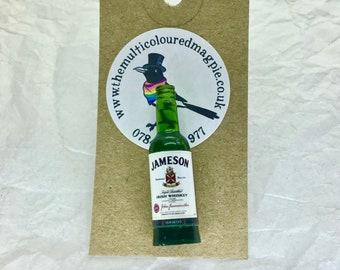 "Miniature Bottle Pin / Badge Jameson Irish Whiskey style  from ""The Bar"""