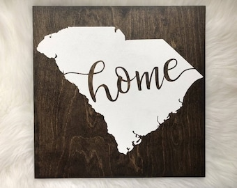 SC home wood sign