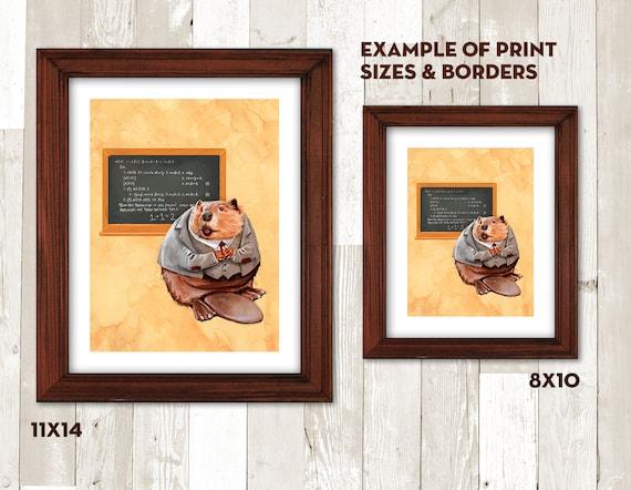 Beaver Mathematica 8x10 art print