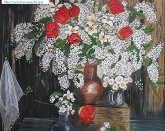 Цветы. Букет. Сирень. Картина / Flowers. Bouquet. Lilac. Picture