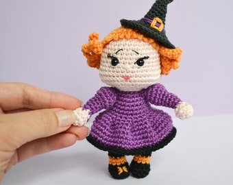 DOLL PATTERN: Esme the Halloween Witch Amigurumi Crochet Pattern. Amigurumi Doll. Halloween Gift. LaCigogne design