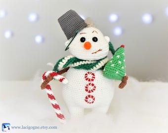 Johnny the Snowman Crochet Amigurumi Pattern Fairytale Gift Crochet snowman Christmas Birthday New Year gift Home decor