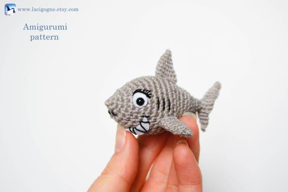 Shark Amigurumi Crochet Pattern Amigurumi Shark Crochet Sea Etsy