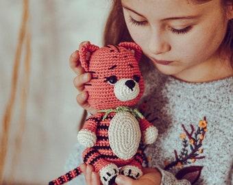 Amigurumi tiger pattern - Crochet tiger toy pattern - Boy Nursery decor - Baby shower gift - LaCigogne design