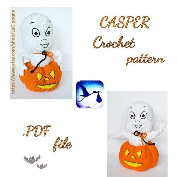 Casper amigurumi crochet pattern Crochet amigurumi toy Casper | Etsy
