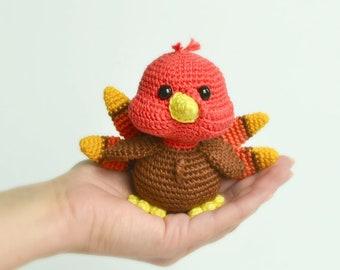 Crochet pattern: Don the turkey Amigurumi. Crochet turkey pattern. Turkey Thanksgiving decor. LaCigogne design