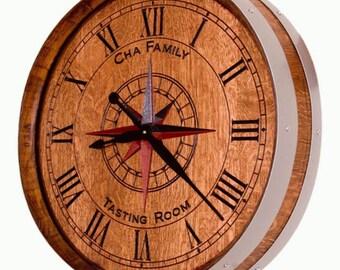 Wine Barrel Clock Etsy