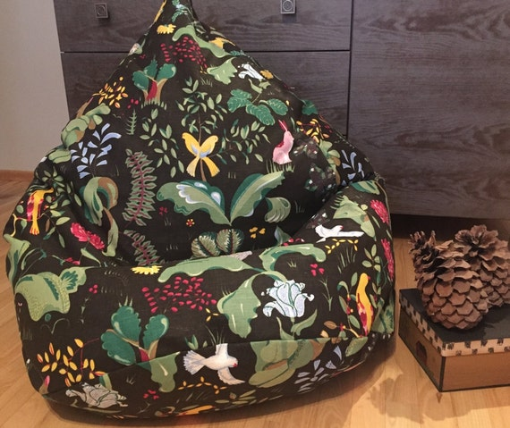 Stupendous Woodland Animals Bean Bag Chair Natural Linen Bean Bag Cover Kids Floor Pillow Seating Bedroom Fall Decor Cotton Insert No Filler Ocoug Best Dining Table And Chair Ideas Images Ocougorg