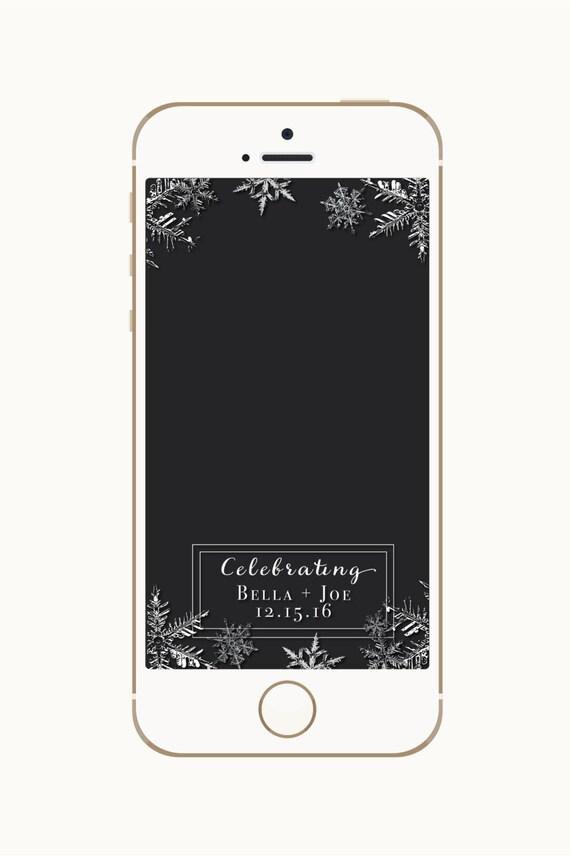 Winter-Hochzeit-Geofilter Hochzeit Snapchat Filter | Etsy