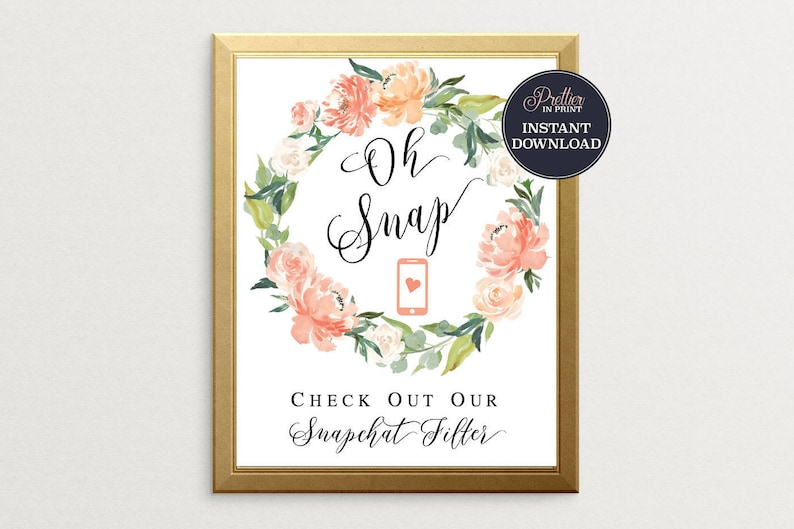 picture relating to Printable Snapchat Filters named Snapchat Filter Signal-PRINTABLE, Oh Snap, Wedding day Reception Signal, Printable Indication, Snapchat Geofilter Indication, Marriage ceremony Snapchat Indication