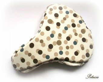 Chocolate Beige polka dot bike seat cover saddle cover bicycle accessories Sattelbezug Sattelschoner