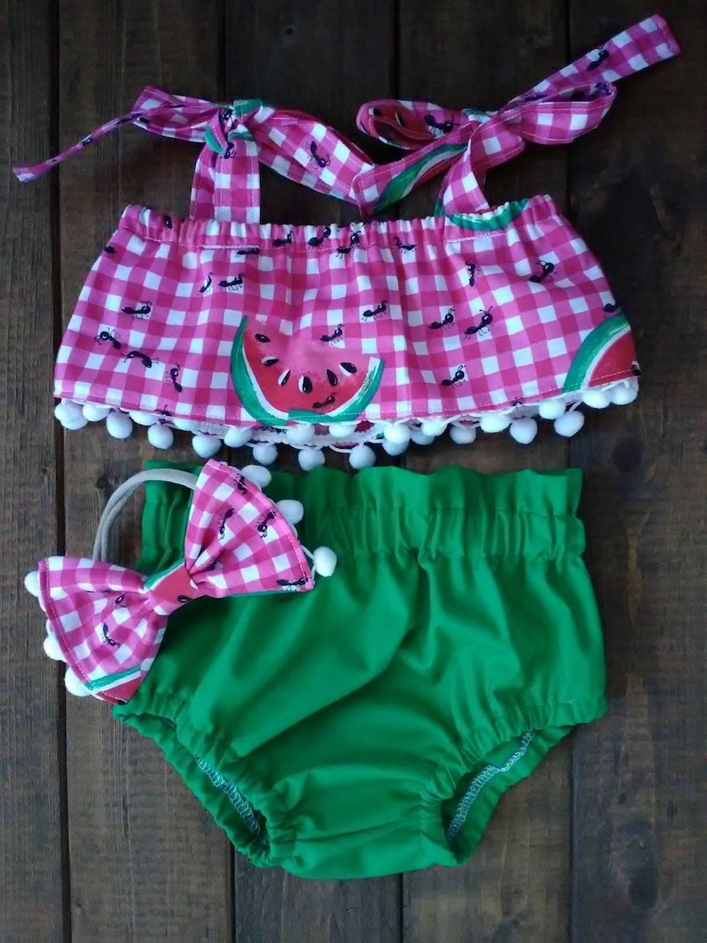 watermelon top watermelon girl outfit summer crop top Watermelon crop top and high waist bloomer set crop top watermelon crop top