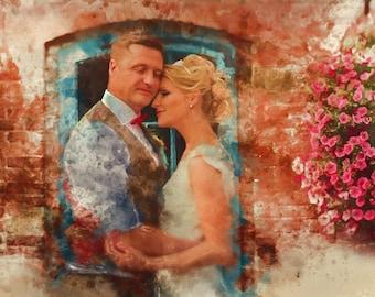 Anniversary Gift, 1st Anniversary Gift, 1st Anniversary, First Anniversary, Custom Portrait, Digital Painting, Paper Anniversary