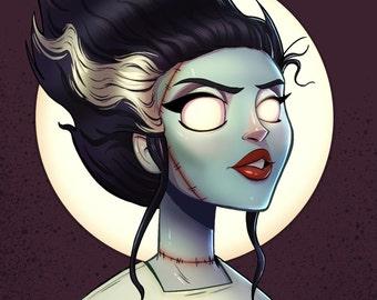 Bride of Frankenstein 8X8 Inch Classic Monster