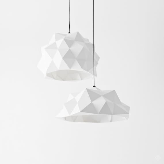 4 In 1 Paper Lamp Geometric Lampshade Printable Pdf Etsy