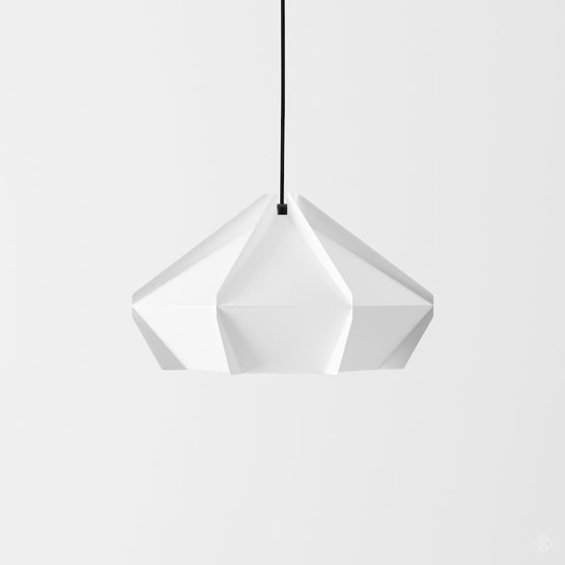 Paper Lamp Geometric Lampshade Printable Pdf Pattern Diy Etsy