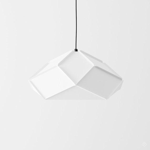 Paper Lamp Geometric Lampshade Printable Pdf Pattern Etsy
