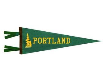 Felt Pennant - Portland