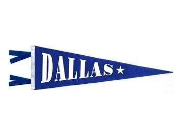 Felt Pennant - Dallas