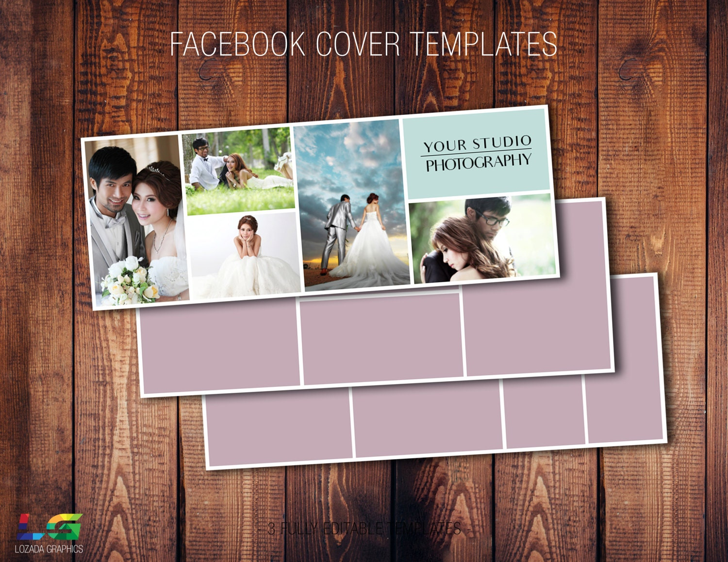 Facebook Cover Templates Psd Fully Customizable Photography Etsy