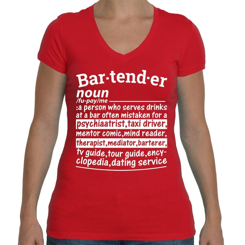 b2e5a91b Bartender Shirt Bartender Noun Definition Funny T-Shirt | Etsy