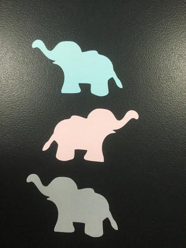 Baby Shower Confetti Elephant Confettielephant Table Etsy