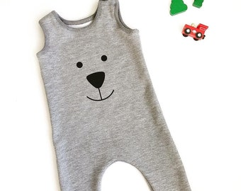 Bear face harem romper sewing pattern